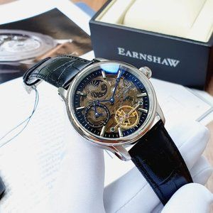 SALE! Thomas Earnshaw 43mm Dual Time Watch